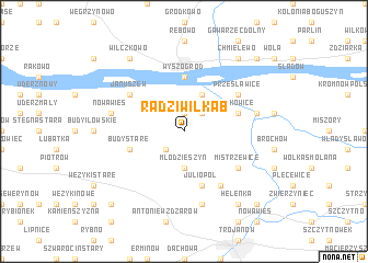 map of Radziwiłka B