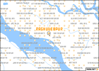 map of Raghudebpur