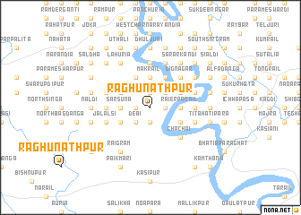 map of Raghunāthpur