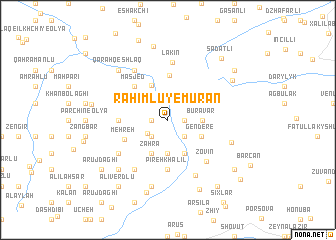 map of Raḩīmlū-ye Mūrān