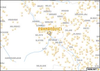 map of Rahmanovići
