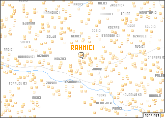 map of Rahmići