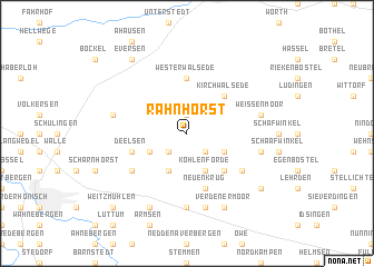 map of Rahnhorst