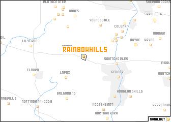 map of Rainbow Hills