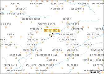 map of Rainrod