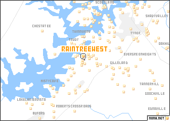 map of Raintree West