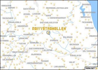 map of Ra'īyyat Maḩalleh