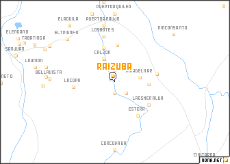 map of Raizuba