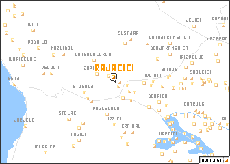 map of Rajačići