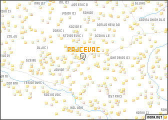 map of Rajčevac