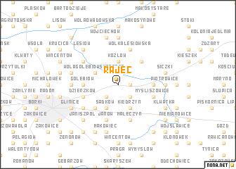 map of Rajec