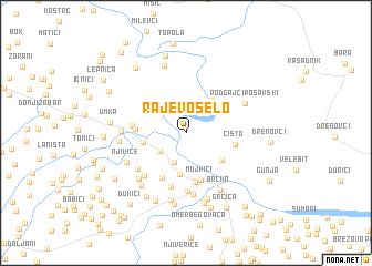 map of Rajevo Selo