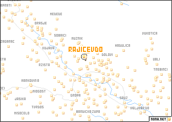 map of Rajićev Do