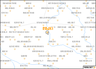 map of Rajki