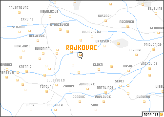 map of Rajkovac