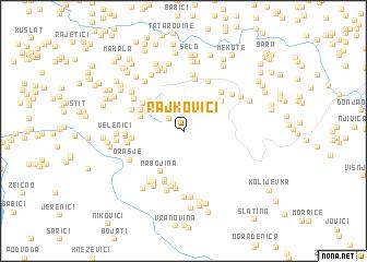 map of Rajkovići