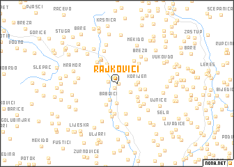 map of Rajkovići