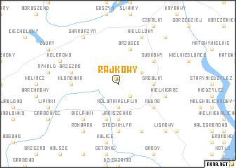 map of Rajkowy