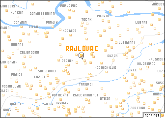 map of Rajlovac