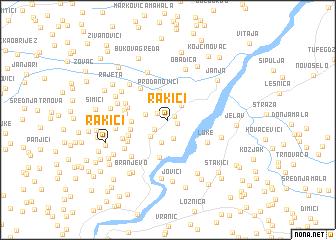 map of Rakići