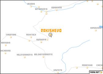 map of Rakishevo