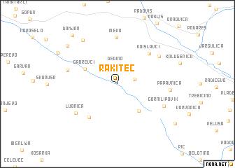 map of Rakitec