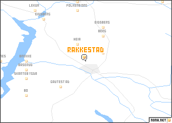 map of Rakkestad