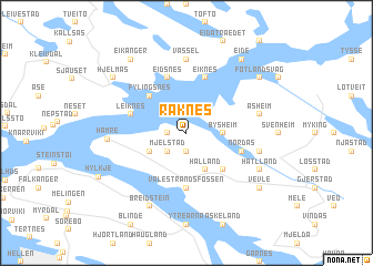 map of Raknes