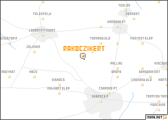 map of Rákóczikert
