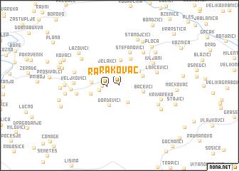 map of Rakovac