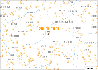 map of Rakovčani
