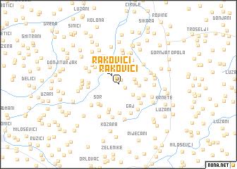 map of Rakovići