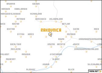map of Rakovnica