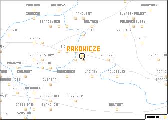 map of Rakowicze