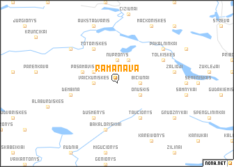 map of Ramanava