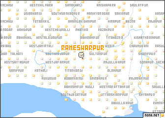 map of Rāmeswarpur