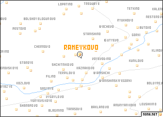 map of Rameykovo