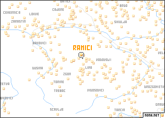 map of Ramići