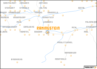 map of Ramingstein
