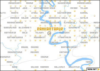 map of Rāmkāntapur