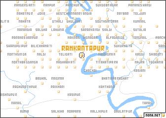 map of Rāmkāntapur