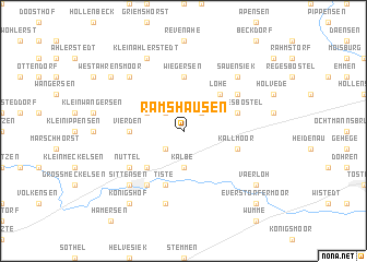 map of Ramshausen