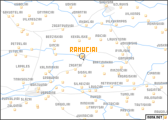 map of Ramučiai