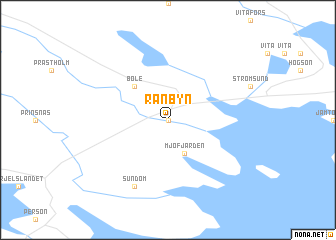 map of Rånbyn