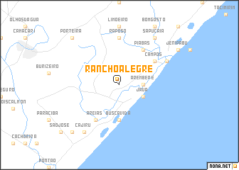 map of Rancho Alegre