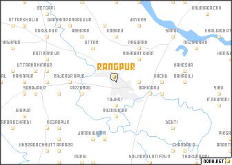 Rangpur Bangladesh map nonanet