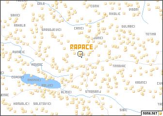 map of Rapače