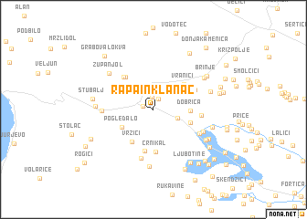 map of Rapain Klanac