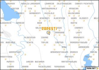 map of Răpeşti