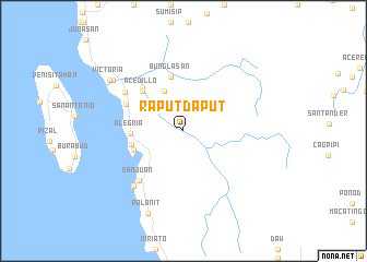 map of Raputdaput